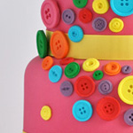 buttons cake